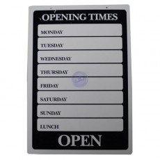 """""""Opening Times"""" Sign"""