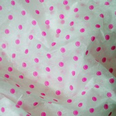 Cerise Polka Dot Tissue Paper (acid-free)