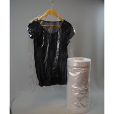 Polythene garment covers on a roll