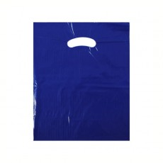 "Navy Blue Plastic Carrier Bags - Small (10"" x 12"")"