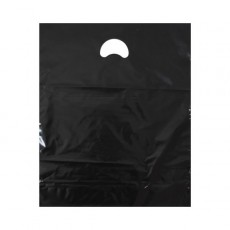 "Black Plastic Carrier Bags (15"" x 18"")"