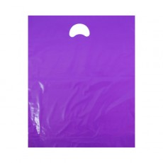 """Violet Plastic Carrier Bags (15"""" x 18"""")"""