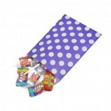 Polka Dot Paper Bags-Purple