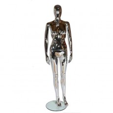 Female Chrome Egghead Mannequin