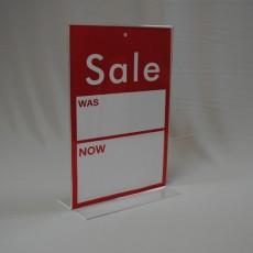 Acrylic 'Sale Was: Now:' Vertical Desktop Display