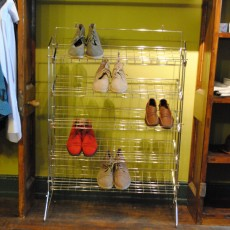 Chrome Shoe Rack with Shelves