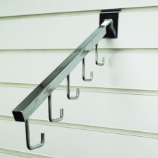 5 Hook Sloping Slatwall Hangers (chrome)