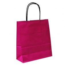 Cerise / Hot Pink Paper Gift Bags With Handles