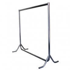 Fishtail Rails - 4ft high (chrome)