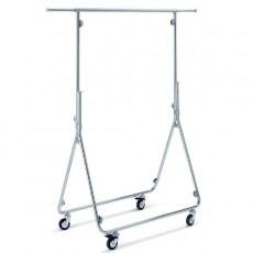 Fully Folding Clothes Rail (chrome)
