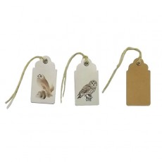 Printed Owls Gift Tags - Set of 15