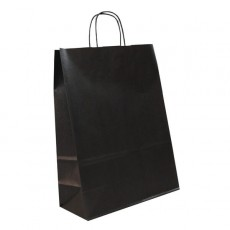 Medium Portrait Fashion Carrier Bag (black)