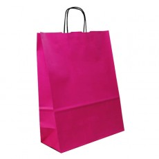 Cerise Paper Carrier Bags For Clothes