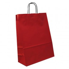 Medium Portrait Fashion Carrier Bag (red)
