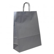 Medium Portrait Fashion Carrier Bag (silver)