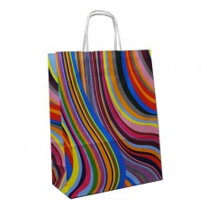 Small Seventies Print Carrier Bag