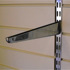 Twin Slot Chrome Shelf Bracket (270mm)