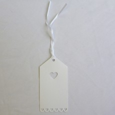 Pearl White Wedding Gift Tags - Pack 10