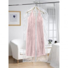 Extra long clear dress cover - set of 2