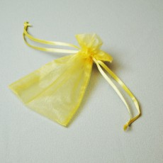 Organza Bag - Yellow (Pack 25)