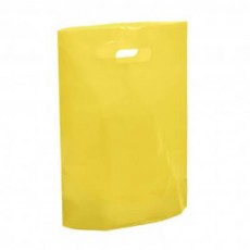 "Yellow Plastic Carrier Bags - Small (10"" x 12"")"