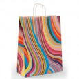 Seventies Style Printed Paper Carrier Bags For Clothes - 150