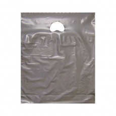 """Silver Plastic Carrier Bags (15"""" x 18"""")"""