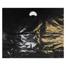 "Black Plastic Carrier Bags - Large (22"" x 18"")"