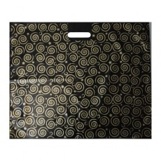 Black and Gold Carrier Bag - 22 inch