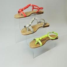 Acrylic Step Unit Shoe Display - 3 Step