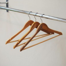 Deluxe Wooden Coat Hanger With Bar