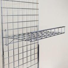 Gridwall Flat Shelf with Lip