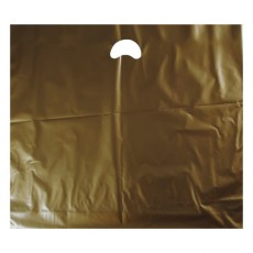 "Gold Plastic Carrier Bags - Large (22"" x 18"")"