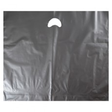 "Silver Plastic Carrier Bags - Large (22"" x 18"")"