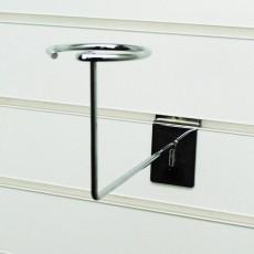 Slatwall Hat Display Millinery Arm (chrome)
