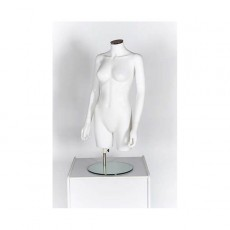 Ladies Matt White Plastic Display Bust