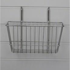 Narrow Slatwall Basket / Gridwall Basket (chrome)