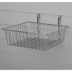 Small Slatwall Basket / Gridwall Basket (chrome)