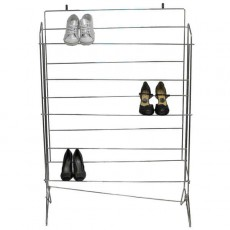 Chrome Shoe Rack Without Shelves