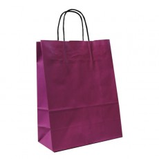 Small Paper Carrier Bags (plum)